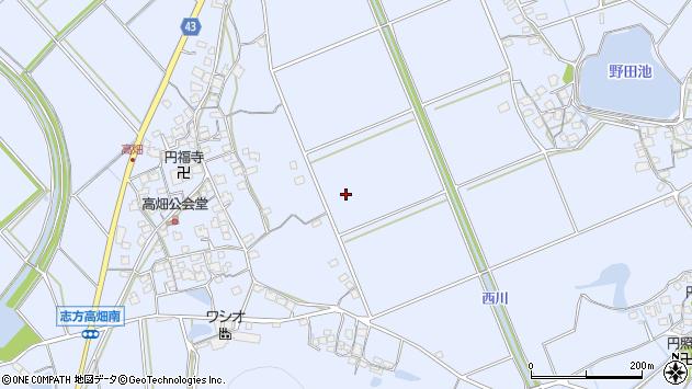 〒675-0304 兵庫県加古川市志方町高畑の地図