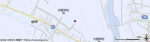 兵庫県加古川市志方町(山中)周辺の地図
