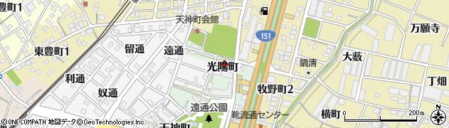 愛知県豊川市光陽町周辺の地図