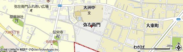 静岡県藤枝市弥左衛門周辺の地図