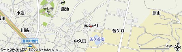 愛知県蒲郡市豊岡町(赤ジャリ)周辺の地図