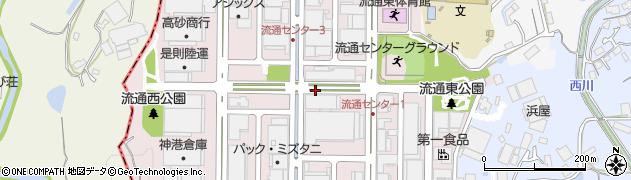 兵庫県西宮市山口町阪神流通センター周辺の地図