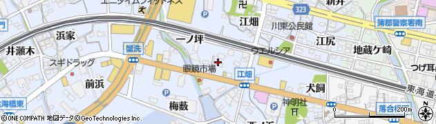 愛知県蒲郡市竹谷町(浜田)周辺の地図