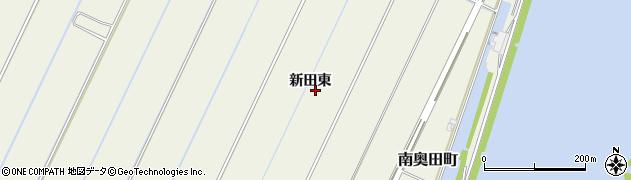 愛知県西尾市南奥田町(新田東)周辺の地図