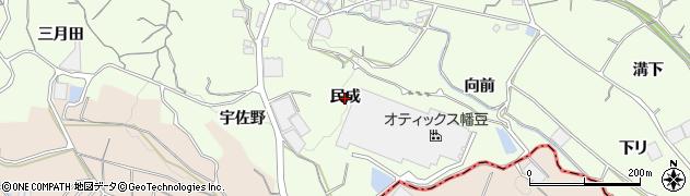 愛知県蒲郡市相楽町(民成)周辺の地図