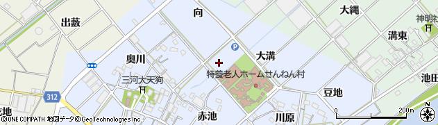 愛知県西尾市平口町周辺の地図