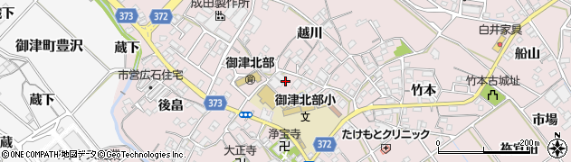 愛知県豊川市御津町広石(神子田)周辺の地図