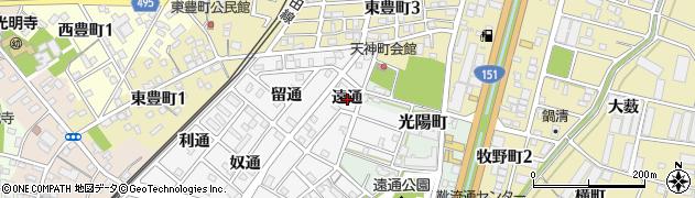 愛知県豊川市豊川町(遠通)周辺の地図
