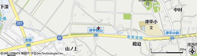 愛知県西尾市吉良町津平(新山)周辺の地図
