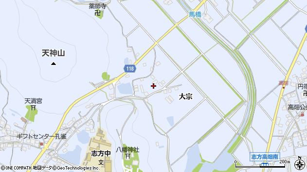 〒675-0305 兵庫県加古川市志方町大宗の地図