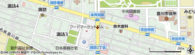 愛知県豊川市諏訪周辺の地図