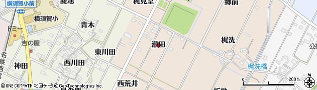 愛知県西尾市吉良町中野(瀬田)周辺の地図