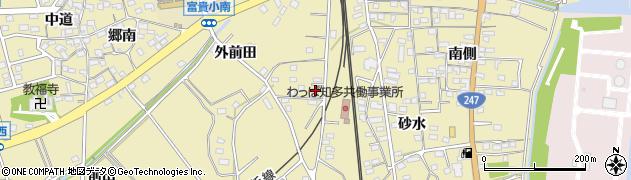 愛知県武豊町(知多郡)冨貴(小桜)周辺の地図