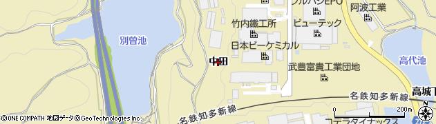 愛知県武豊町(知多郡)冨貴(中田)周辺の地図
