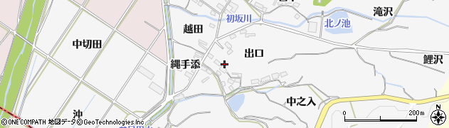 愛知県豊橋市石巻小野田町(出口)周辺の地図