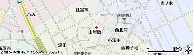 愛知県豊川市三上町(山屋敷)周辺の地図