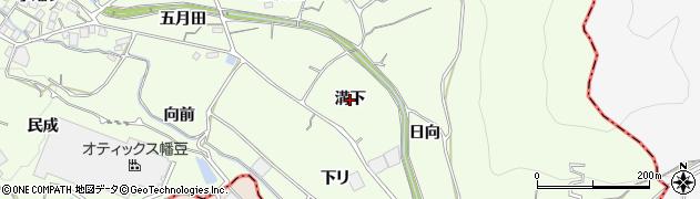 愛知県蒲郡市相楽町(溝下)周辺の地図