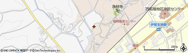 三重県伊賀市楯岡周辺の地図
