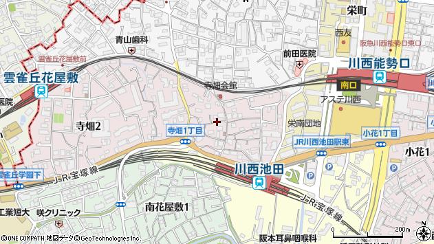 〒666-0034 兵庫県川西市寺畑の地図