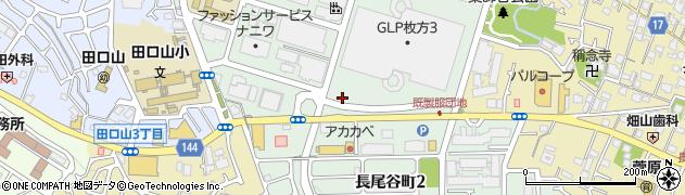 大阪府枚方市長尾谷町周辺の地図