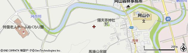 三重県伊賀市馬場周辺の地図