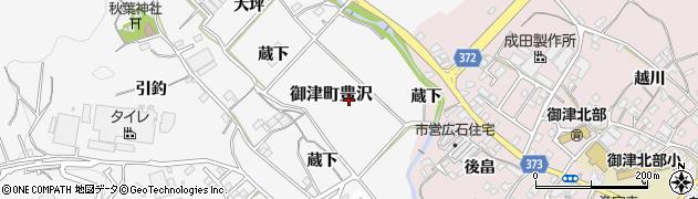 愛知県豊川市御津町豊沢(大蔵)周辺の地図