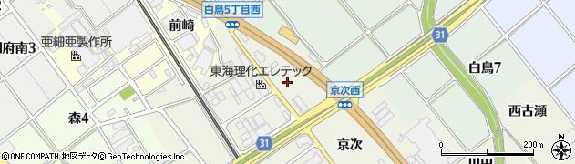 愛知県豊川市白鳥町(高田)周辺の地図