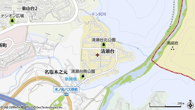 〒669-1131 兵庫県西宮市清瀬台の地図