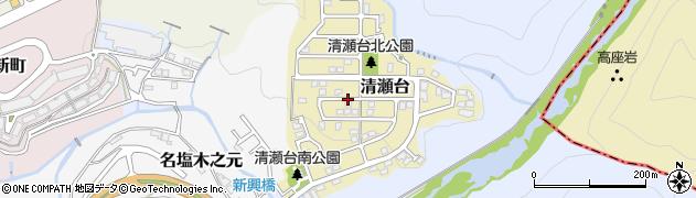 兵庫県西宮市清瀬台周辺の地図