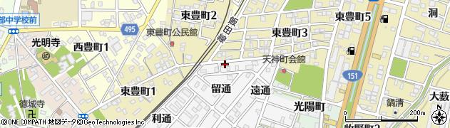愛知県豊川市豊川町(加通)周辺の地図