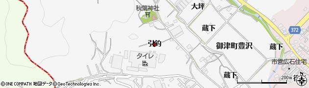 愛知県豊川市御津町豊沢(引釣)周辺の地図