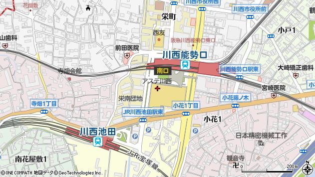 〒666-0033 兵庫県川西市栄町の地図