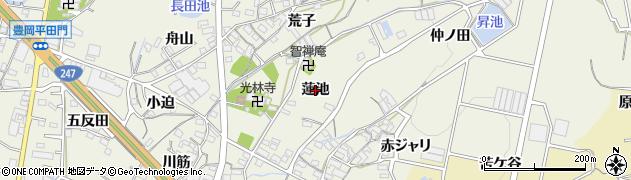 愛知県蒲郡市豊岡町(蓮池)周辺の地図