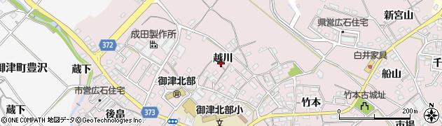愛知県豊川市御津町広石周辺の地図