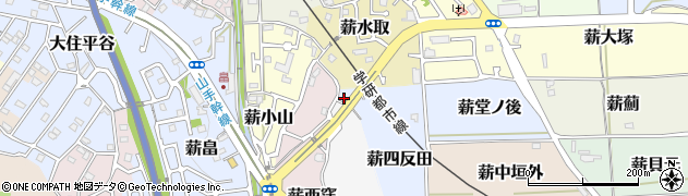 京都府京田辺市薪四反田周辺の地図