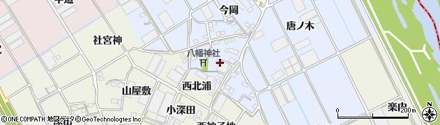 愛知県豊川市二葉町(中西浦)周辺の地図