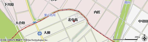 愛知県豊川市三上町(北中島)周辺の地図