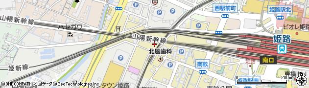 兵庫県姫路市南畝町周辺の地図
