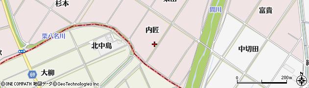 愛知県豊橋市賀茂町(内籠)周辺の地図