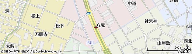 愛知県豊川市麻生田町(八尻)周辺の地図