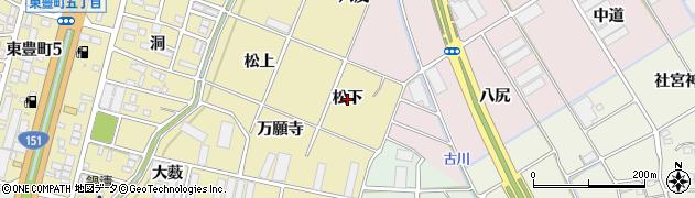 愛知県豊川市谷川町(松下)周辺の地図