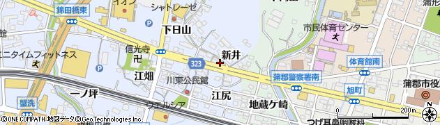愛知県蒲郡市竹谷町(新井)周辺の地図