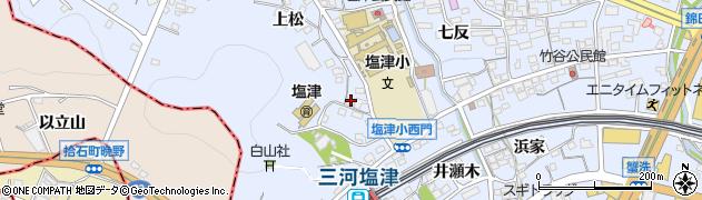 愛知県蒲郡市竹谷町(今御堂)周辺の地図