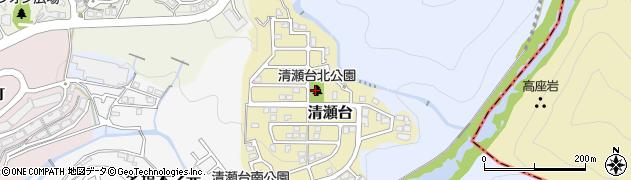清瀬台北公園周辺の地図