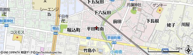 愛知県蒲郡市平田町(南)周辺の地図