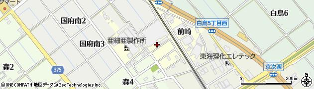 愛知県豊川市国府町(天神)周辺の地図