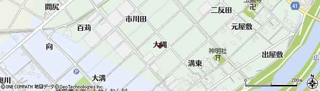愛知県西尾市横手町(大縄)周辺の地図