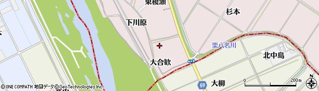 愛知県豊橋市賀茂町(大合歓)周辺の地図