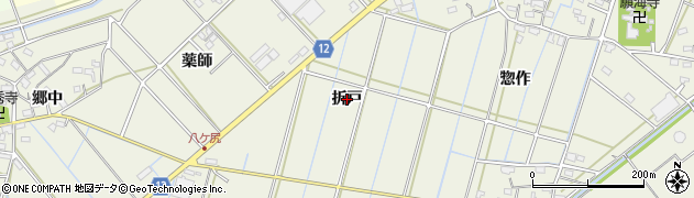 愛知県西尾市市子町(折戸)周辺の地図