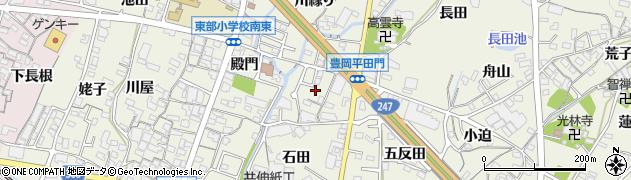 愛知県蒲郡市豊岡町(平田門)周辺の地図